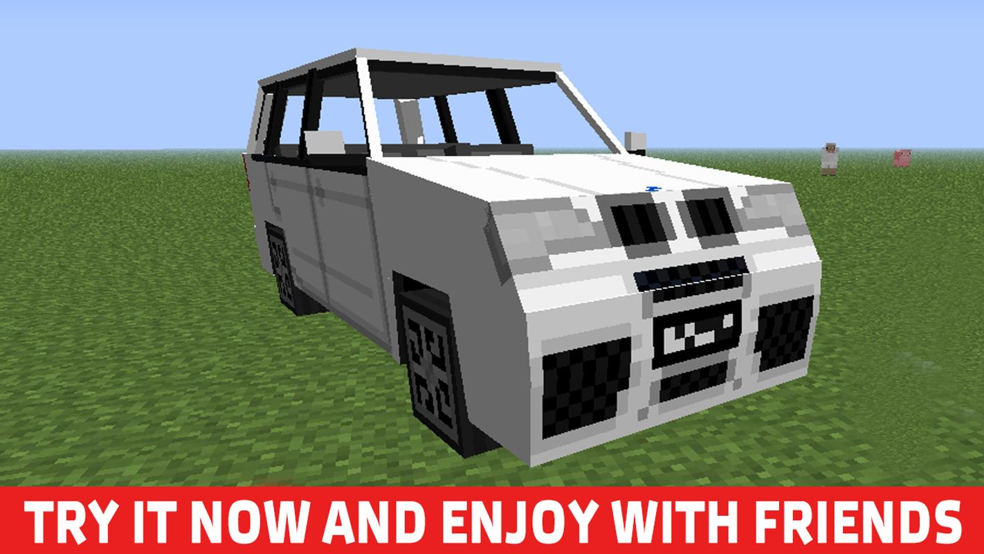 minecraft pe car and garage mod download