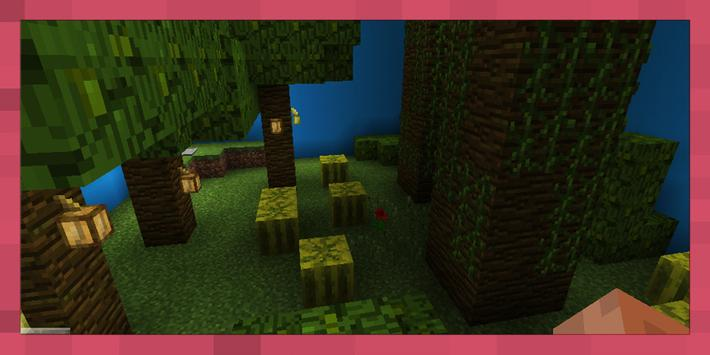 Find the Button: New Biomes. Map for MCPE poster