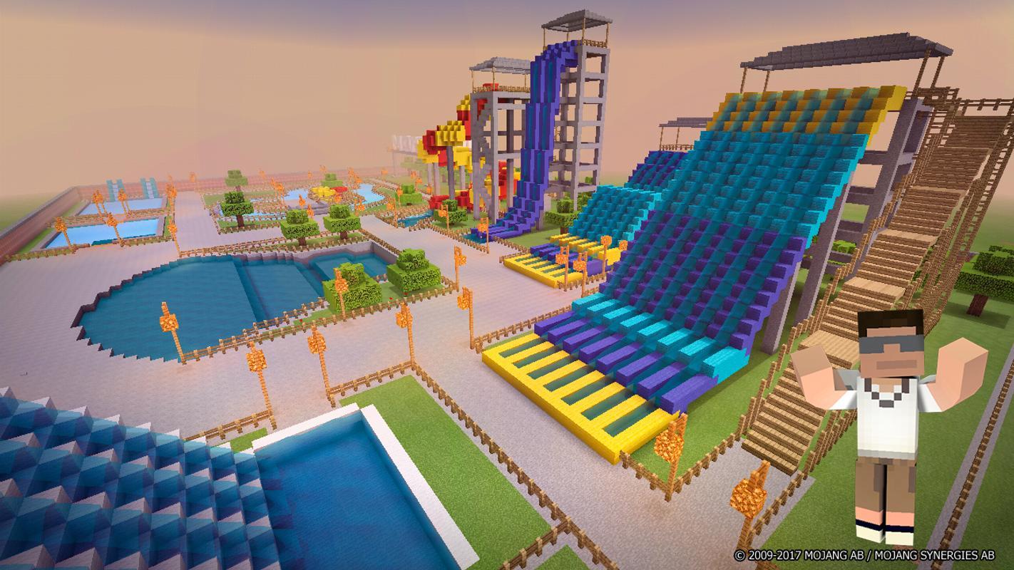 аквапарк в майнкрафте карта #1