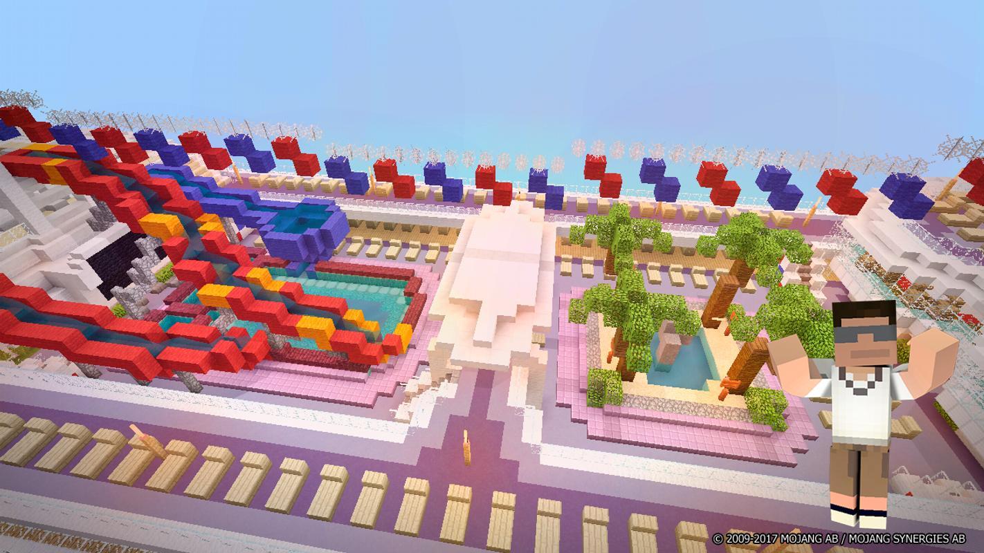 аквапарк в майнкрафте карта #3
