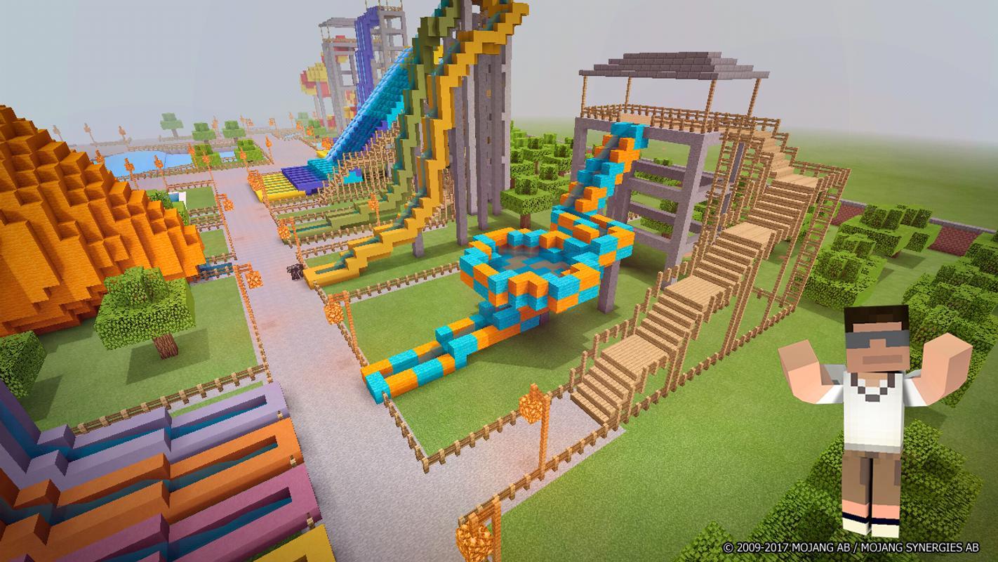 аквапарк в майнкрафте карта #2