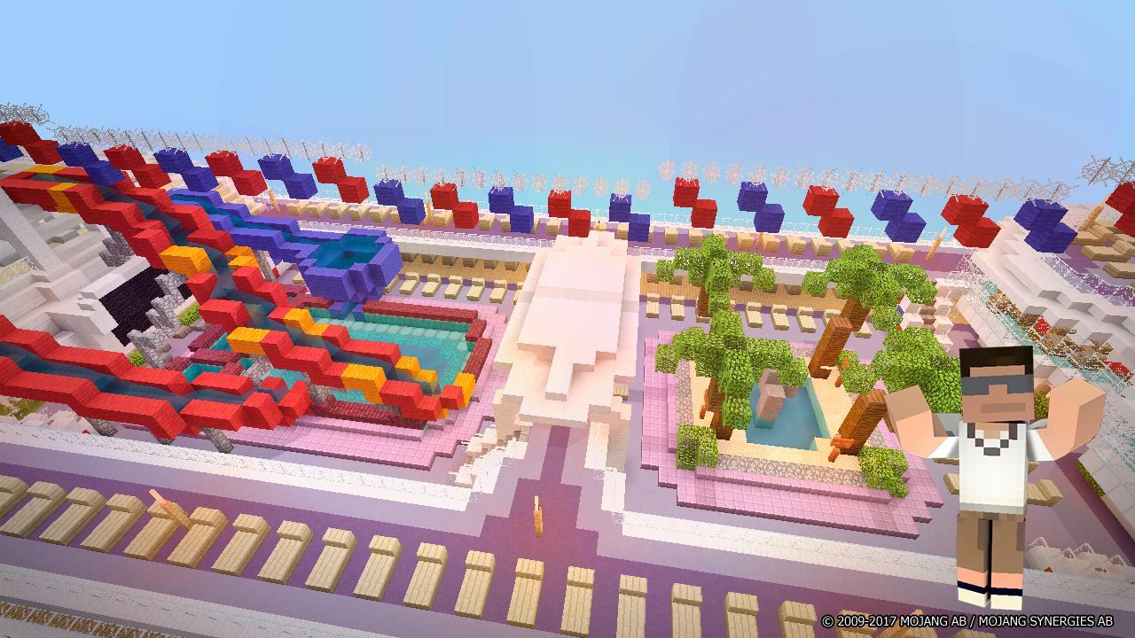 Аквапарк в майнкрафте карта