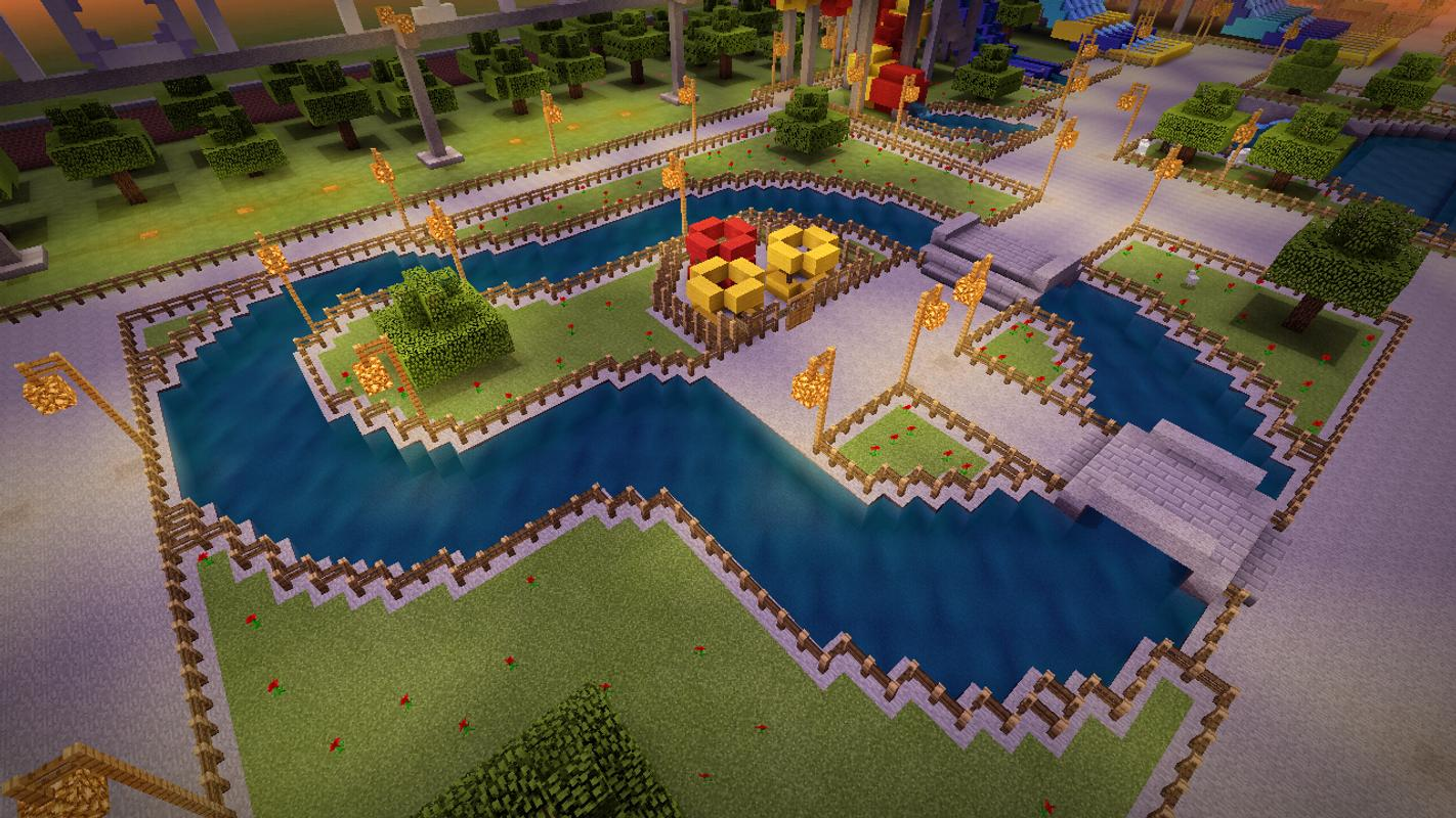 аквапарк в майнкрафте карта #8