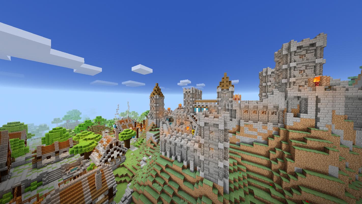 Карты майнкрафт пе замок