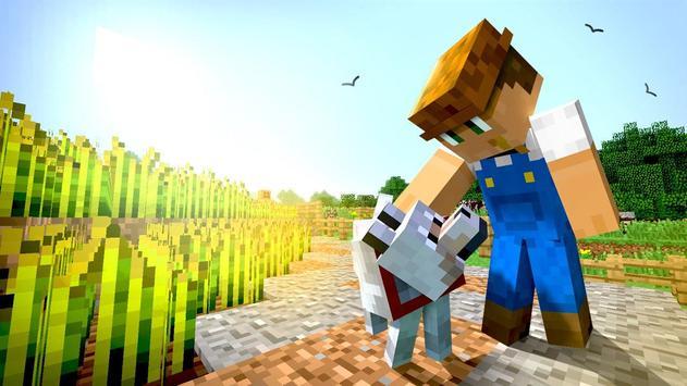 Survival Minecraft Farming Mode - Village Maps poster