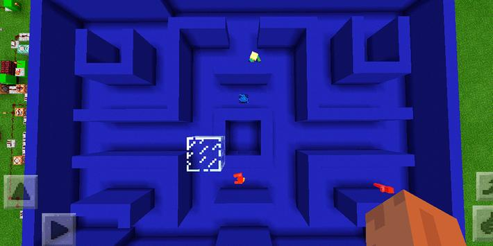 New Pacman Mini-game. Map for MCPE screenshot 1