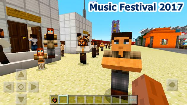 New music festival map MCPE poster