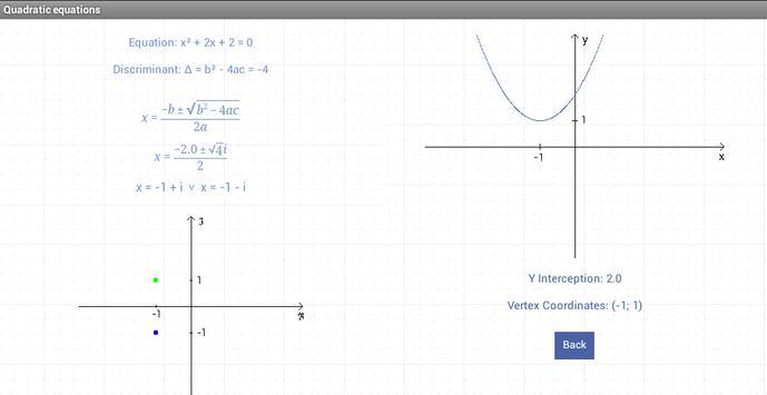Quadratic equations screenshot 4