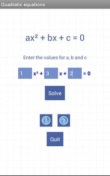Quadratic equations poster