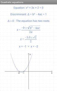 Quadratic equations screenshot 1
