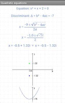 Quadratic equations screenshot 2