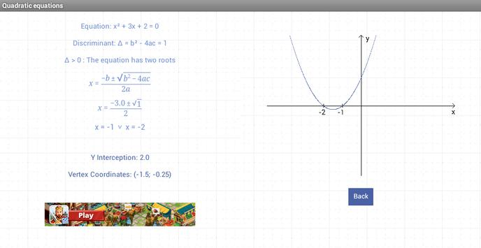 Quadratic equations screenshot 3