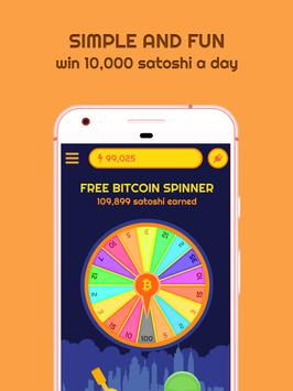 Free Bitcoin Spinner poster