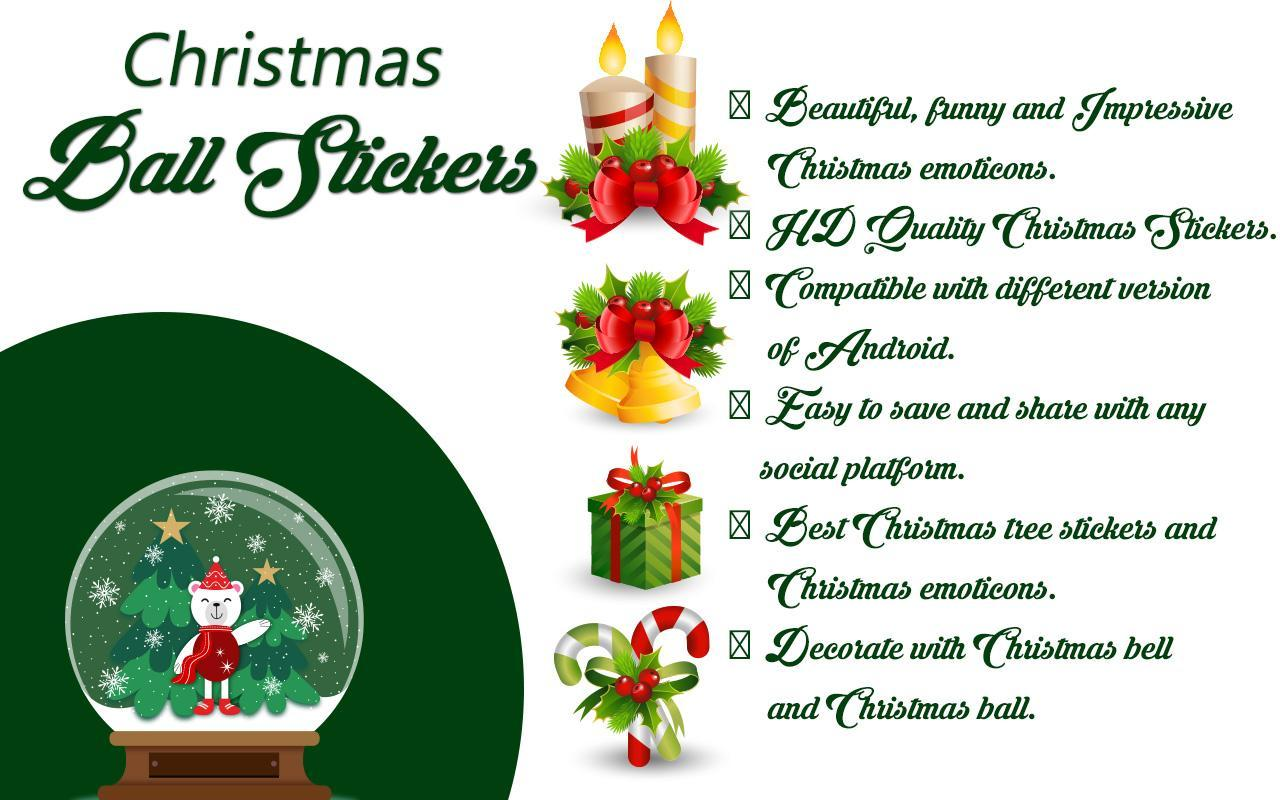 Christmas Ball Stickers poster