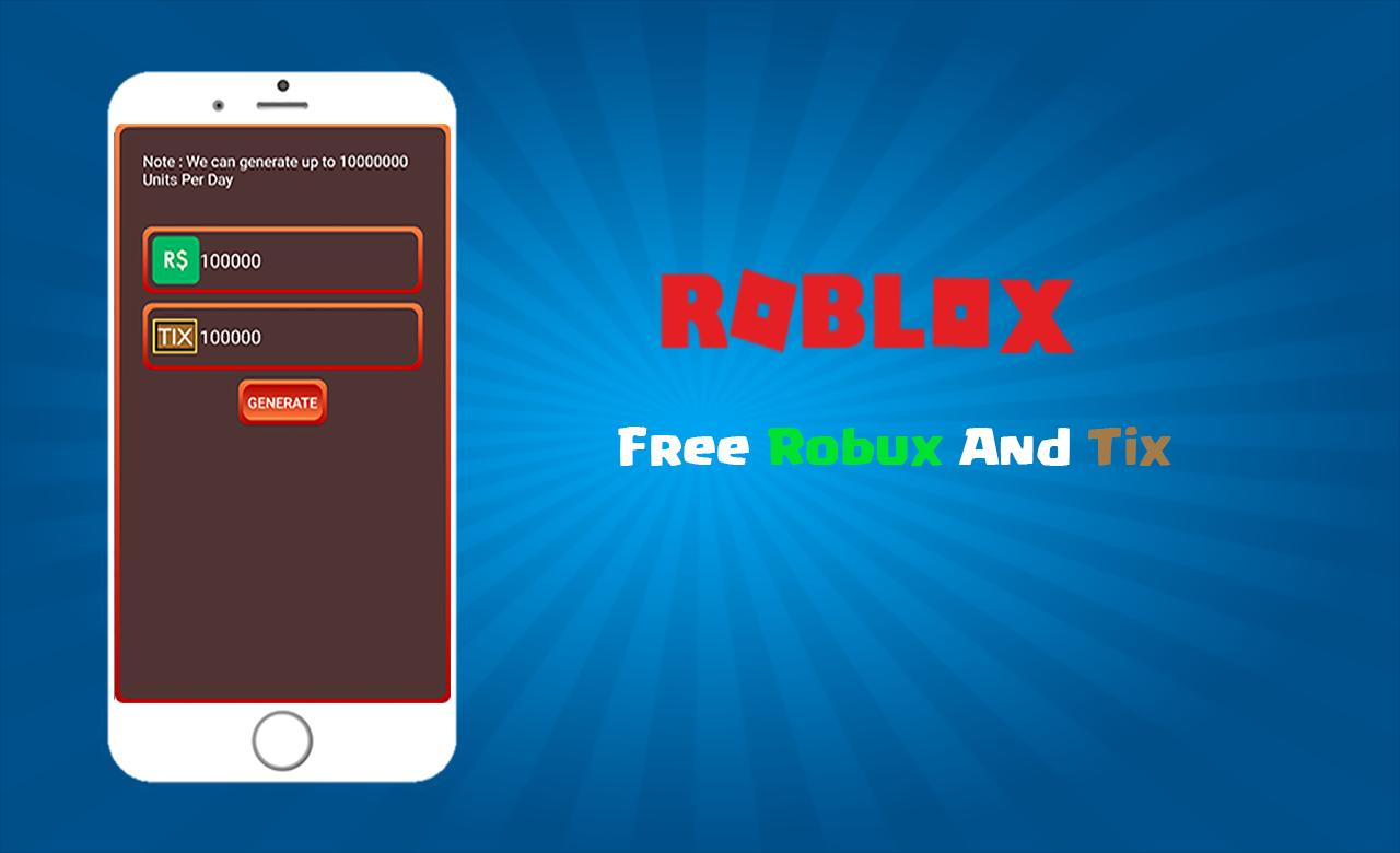 Hack For Roblox Unlimited Robux And Tix Prank For Android Apk