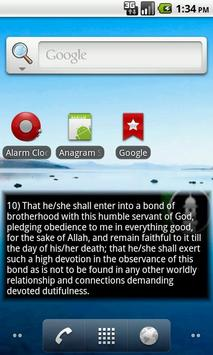 10 Conditions of Bai'at Widget apk screenshot