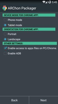 ARChon Packager screenshot 3