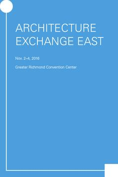 Architecture Exchange East poster