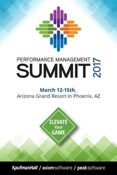 Performance Management Summit poster