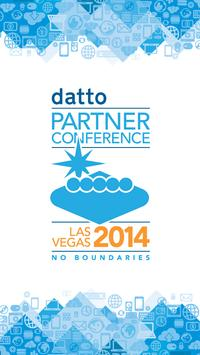 Datto Partner Conference 2014 poster