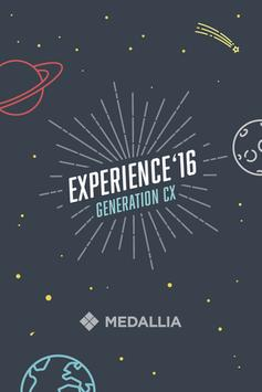 Medallia Experience 2016 poster