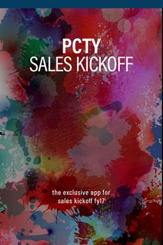 PCTY Sales Kickoff FY17 poster