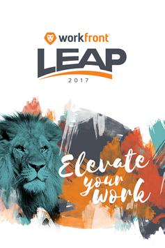 Workfront Leap poster