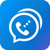 Free phone calls, free texting SMS on free number icon