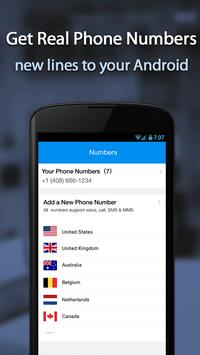 Free phone calls, free texting SMS on free number screenshot 1