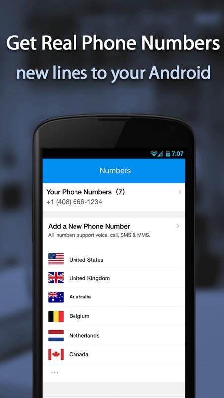 how to change number on 2nd line free phone app