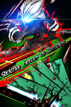 Zombie Avengers:(Dreamsky) Stickman poster