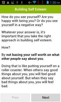 Building Self Esteem apk screenshot