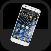 부서진 화면 - 깨진 화면, 깨진 액정, 화면 장난 icon