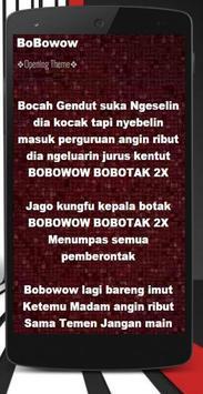 Ost Bobowow Lagu + Lirik Mp3 apk screenshot