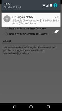 OzBargain Notify apk screenshot