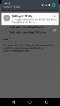 OzBargain Notify apk screenshot