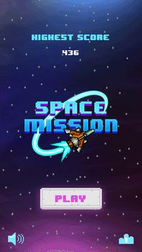 Space Mission 8-bit poster