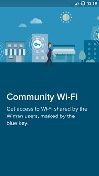 واي-فاي مجاني - Wiman تصوير الشاشة 1