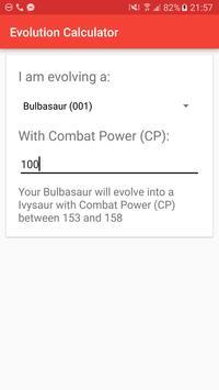 Evolution Calc for Pokémon GO poster