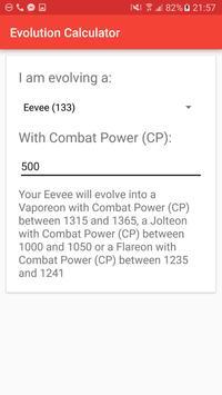 Evolution Calc for Pokémon GO apk screenshot
