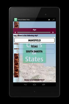 Cities and States Trivia apk screenshot