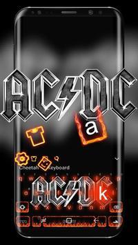 Metal AC DC keyboard poster