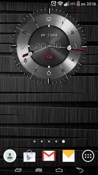 Metallic clock widget poster