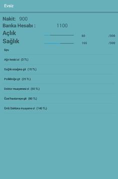 Evsiz Simulator apk screenshot