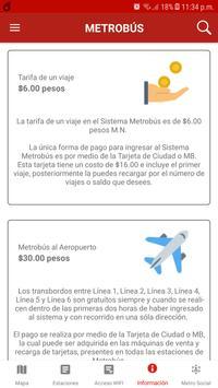 Metro Metrobús CDMX Offline - Ciudad de México screenshot 8