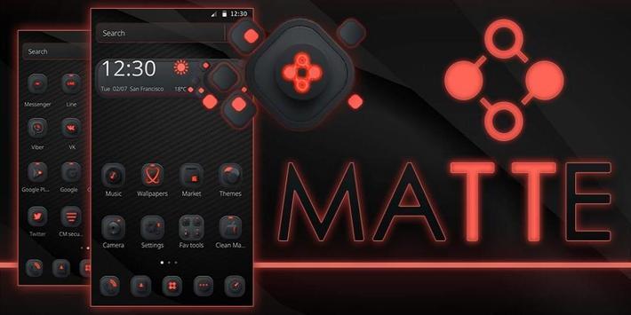Matte Black Amp Red Apk Screenshot