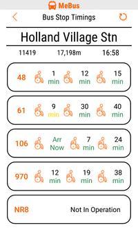 MeBus: SG Bus Information apk screenshot
