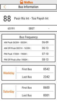MeBus: SG Bus Information screenshot 3