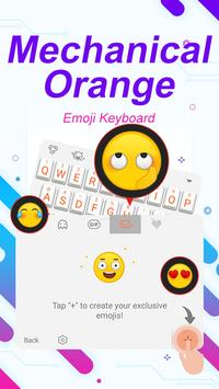 Mechanical Orange Theme&Emoji Keyboard apk screenshot
