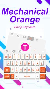 Mechanical Orange Theme&Emoji Keyboard poster
